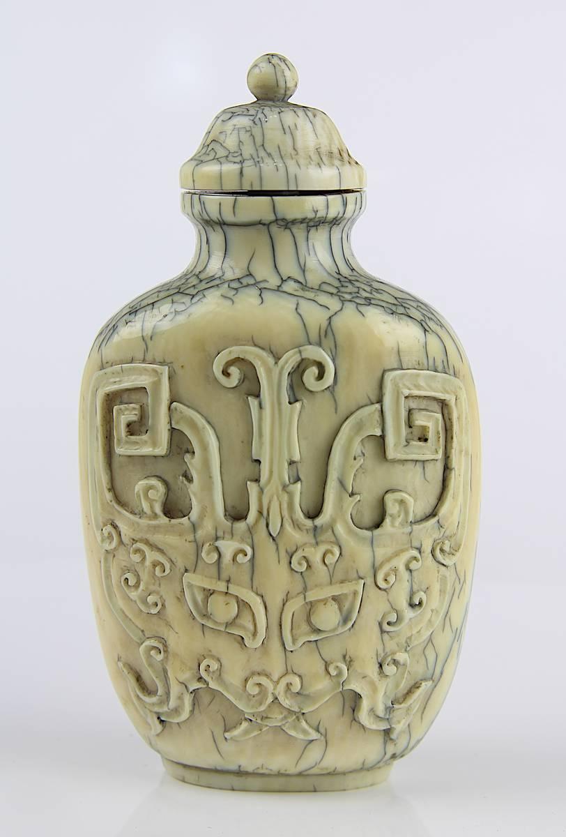 1-0002 - Chinesischer Elfenbein-Snuff Bottle, 19 Jh. Image