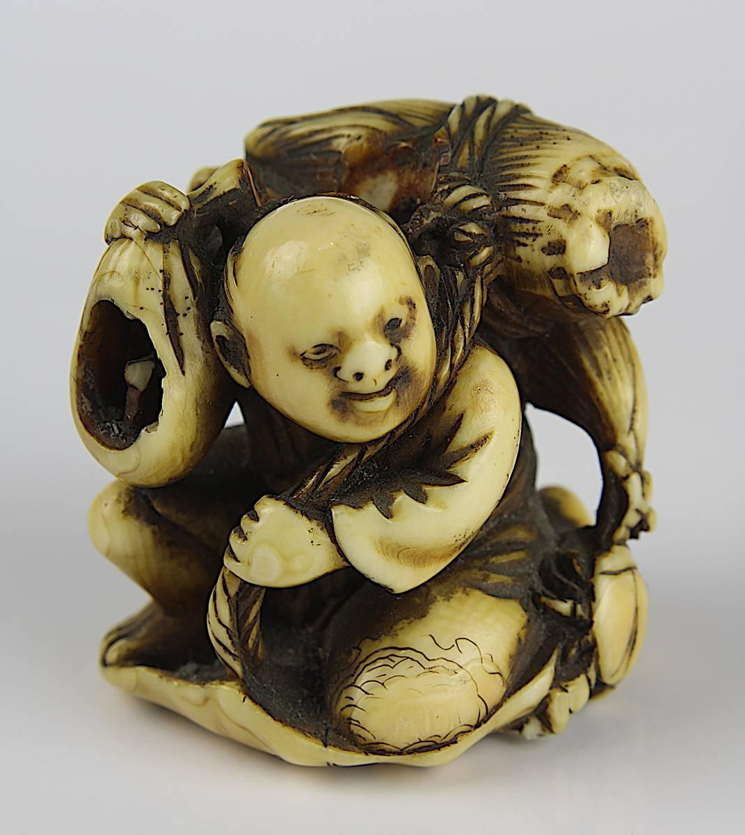1-0005 - Japanisches Elfenbein-Netsuke, 18 - 19 Jh. Image