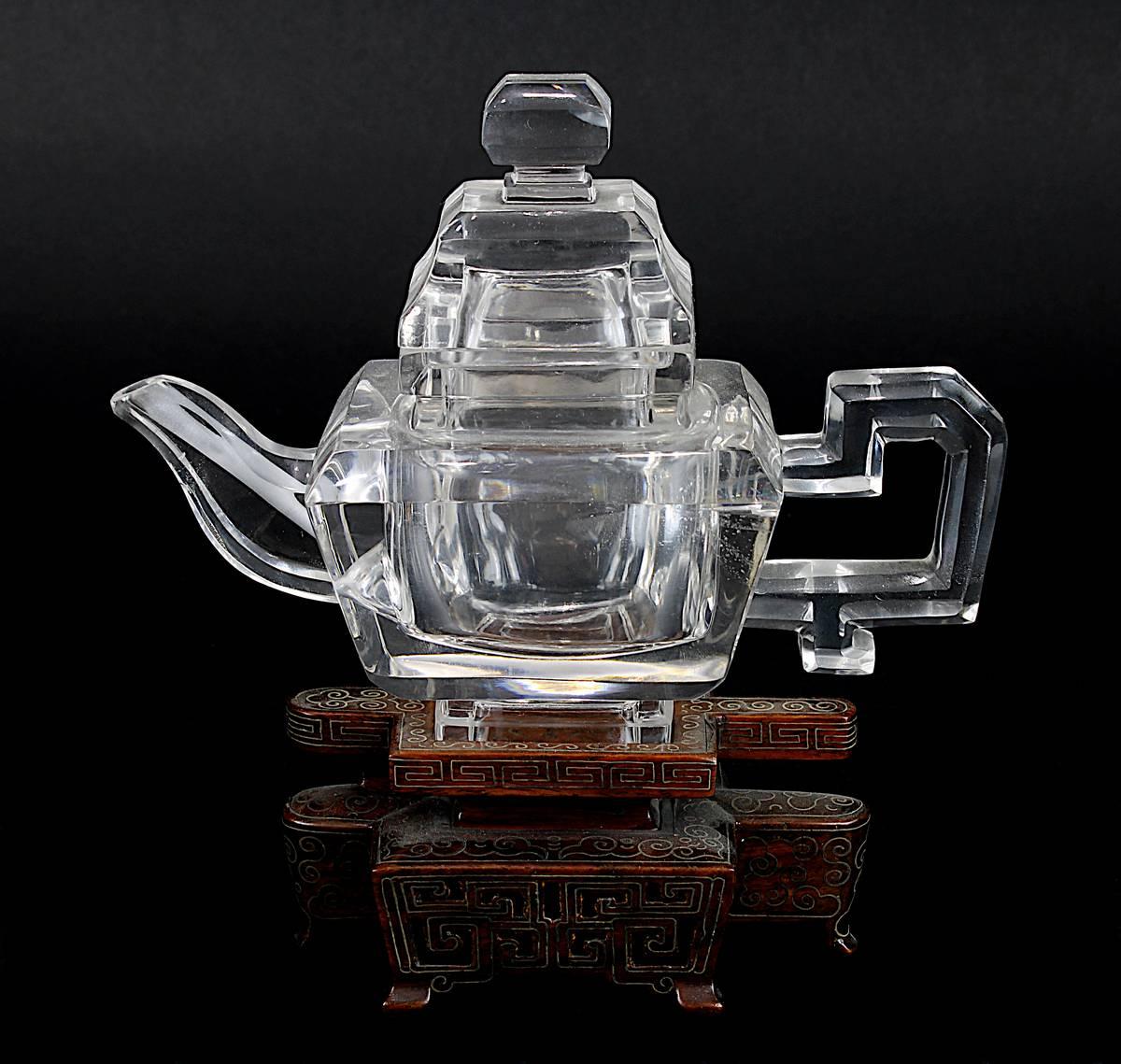 1-0012 - Teekanne aus Bergkristall, China um 1920 Image