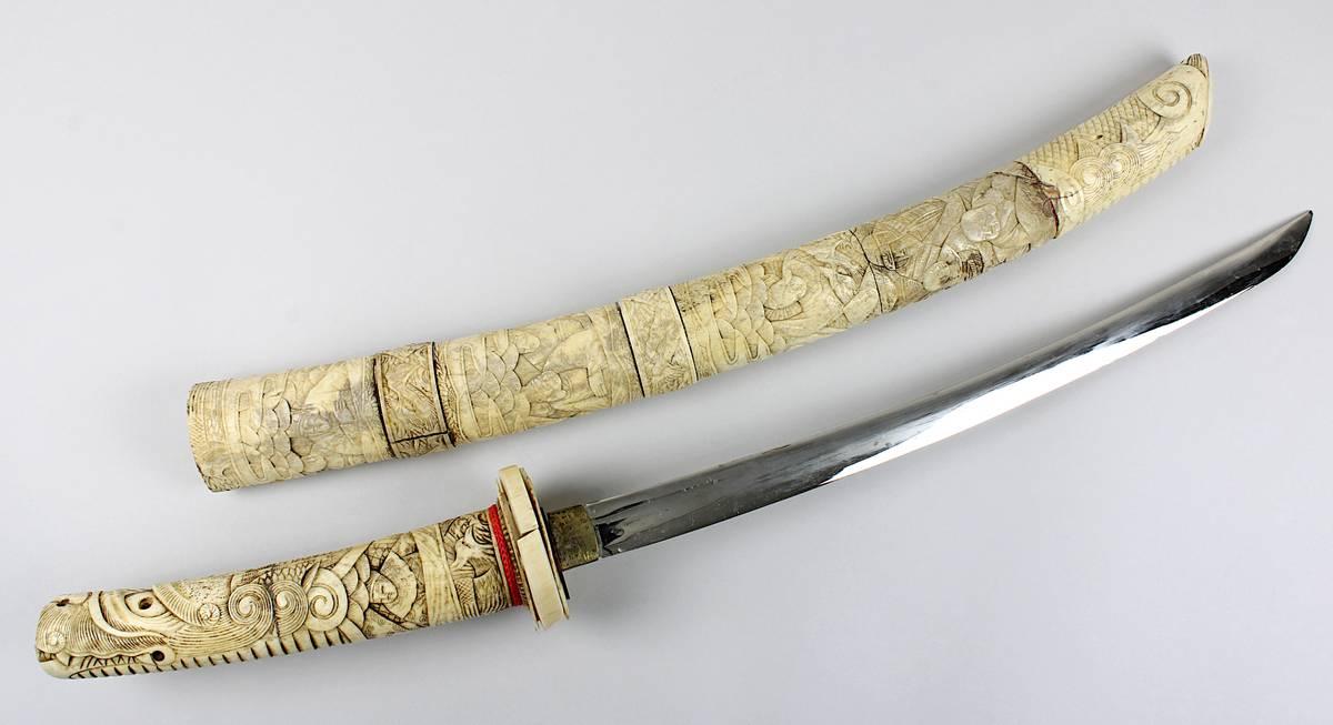 1-0016 - Japanisches Samurai-Wakizashi-Schwert, Japan um 1920 Image