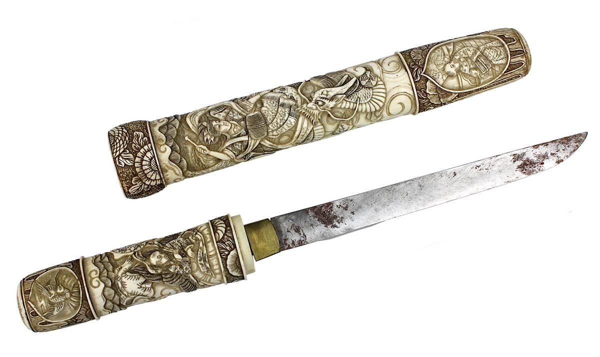 1-0022 - Tanto mit Elfenbein, Japan Meiji-Zeit Image