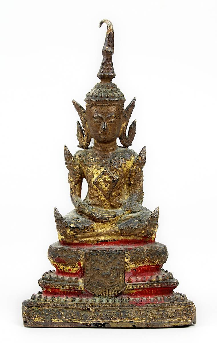1-0027 - Siamesischer Bronze-Buddha, 19. Jh. Image