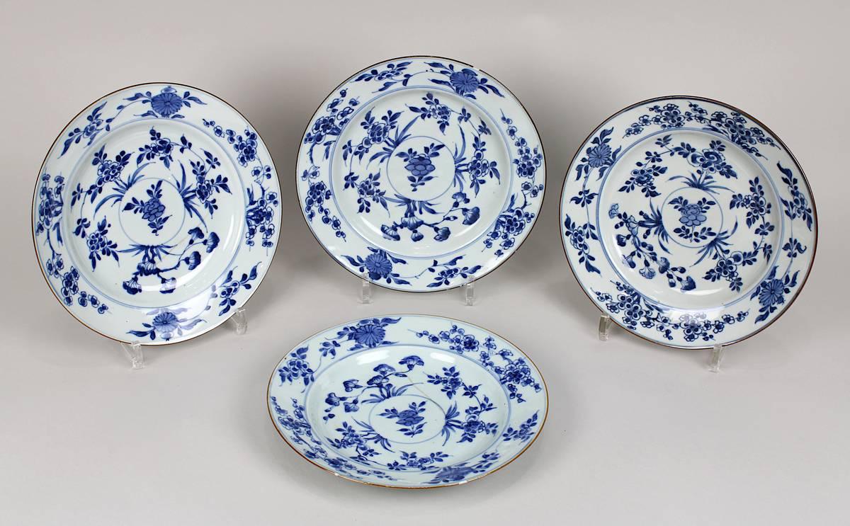1-0030 - 4 Porzellanteller China, Kangxi-Periode (1654-1722) Image