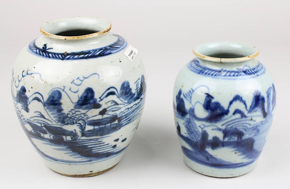 1-0038 - 2 Porzellanvasen, wohl Vietnam Anf. 19. Jh. Image