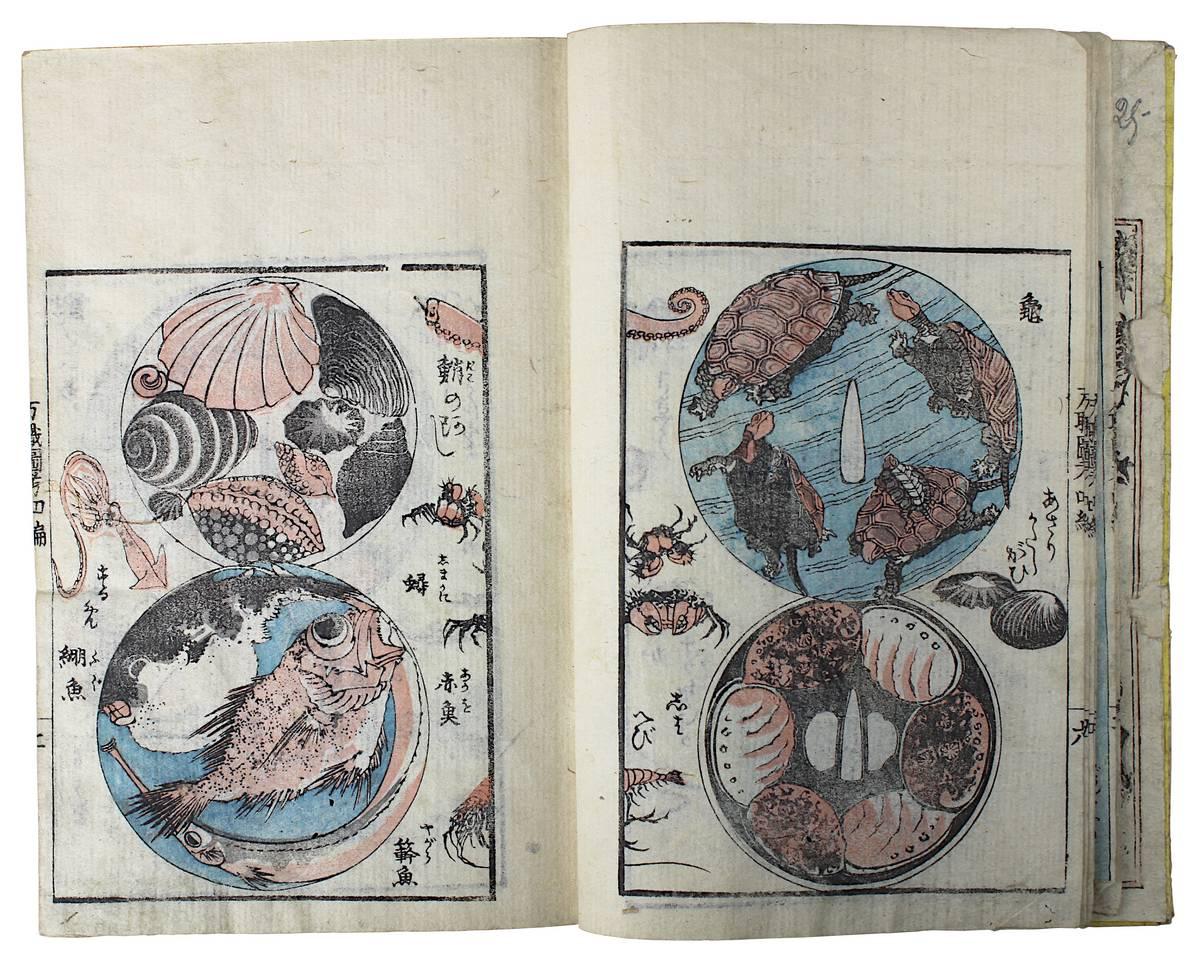 1-0041 - Katsushika Taito (aktiv Japan 1810 - 1853), Holzschnittbuch Banshoku zuko Image