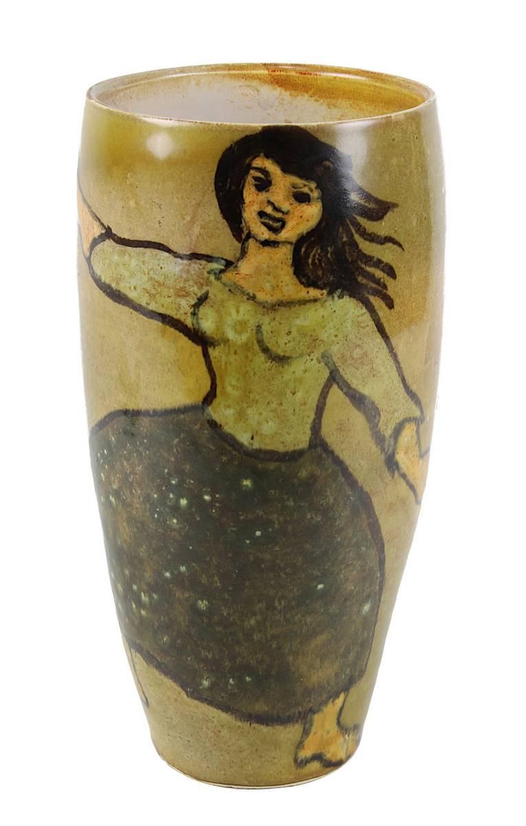 11-0002 - De Chabaneix, Francois (Frankreich 1920 - 2003) Vase mit Tanzpaar Image