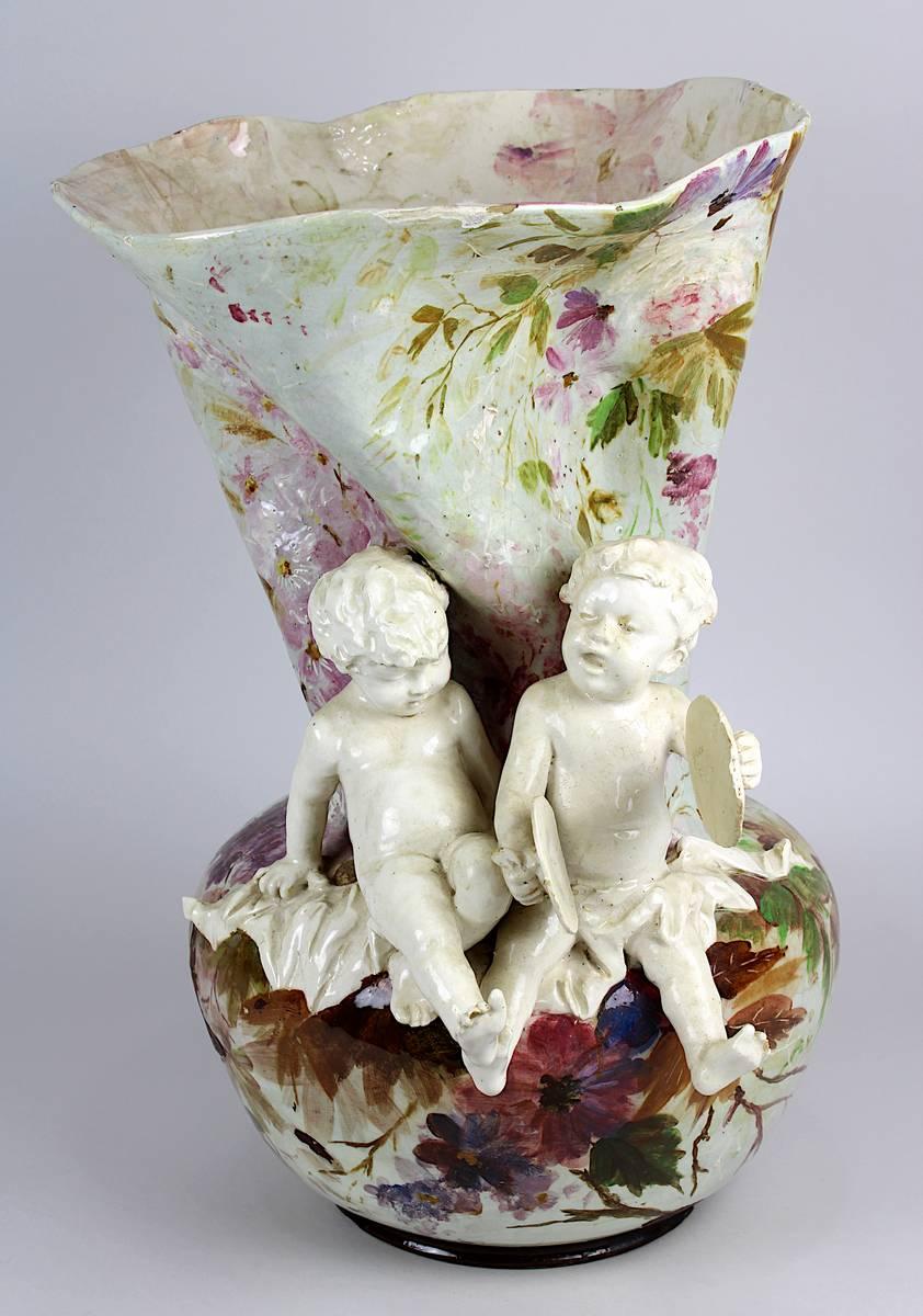 11-0013 - Keramik-Figurenvase, Frankreich um 1890 Image