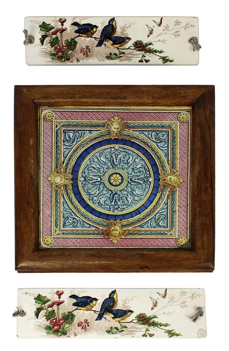11-0014 - Keramik-Untersetzer und 2 Kachel-Wandbilder Image