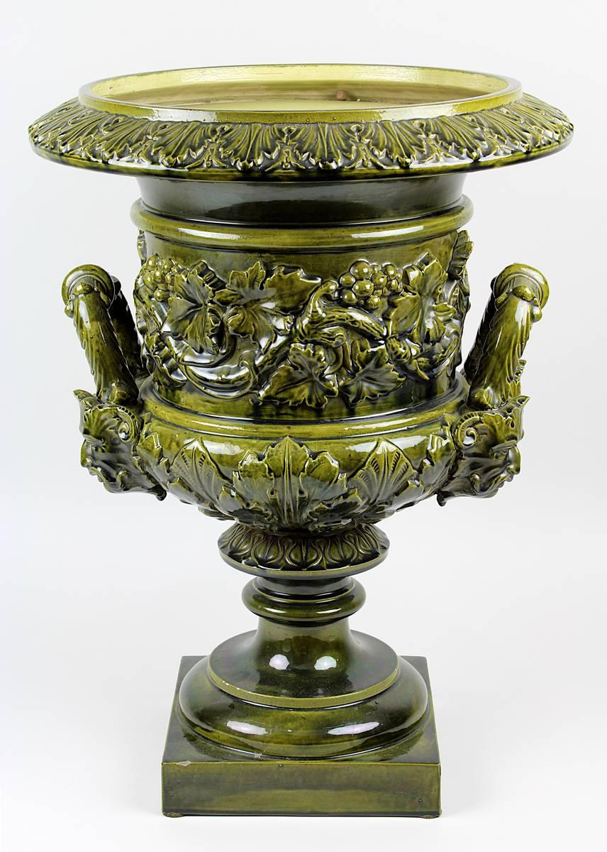 11-0029 - Großer Gründerzeit Keramik-Blumentopf Image
