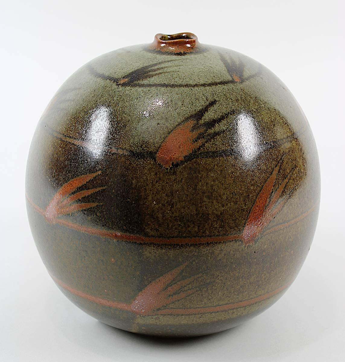 11-0036 - Kerstan, Horst (Frankfurt a. M. 1941 - 2005  Kandern), Studiokeramik Art Pottery - Kugelvase, 1979 Image