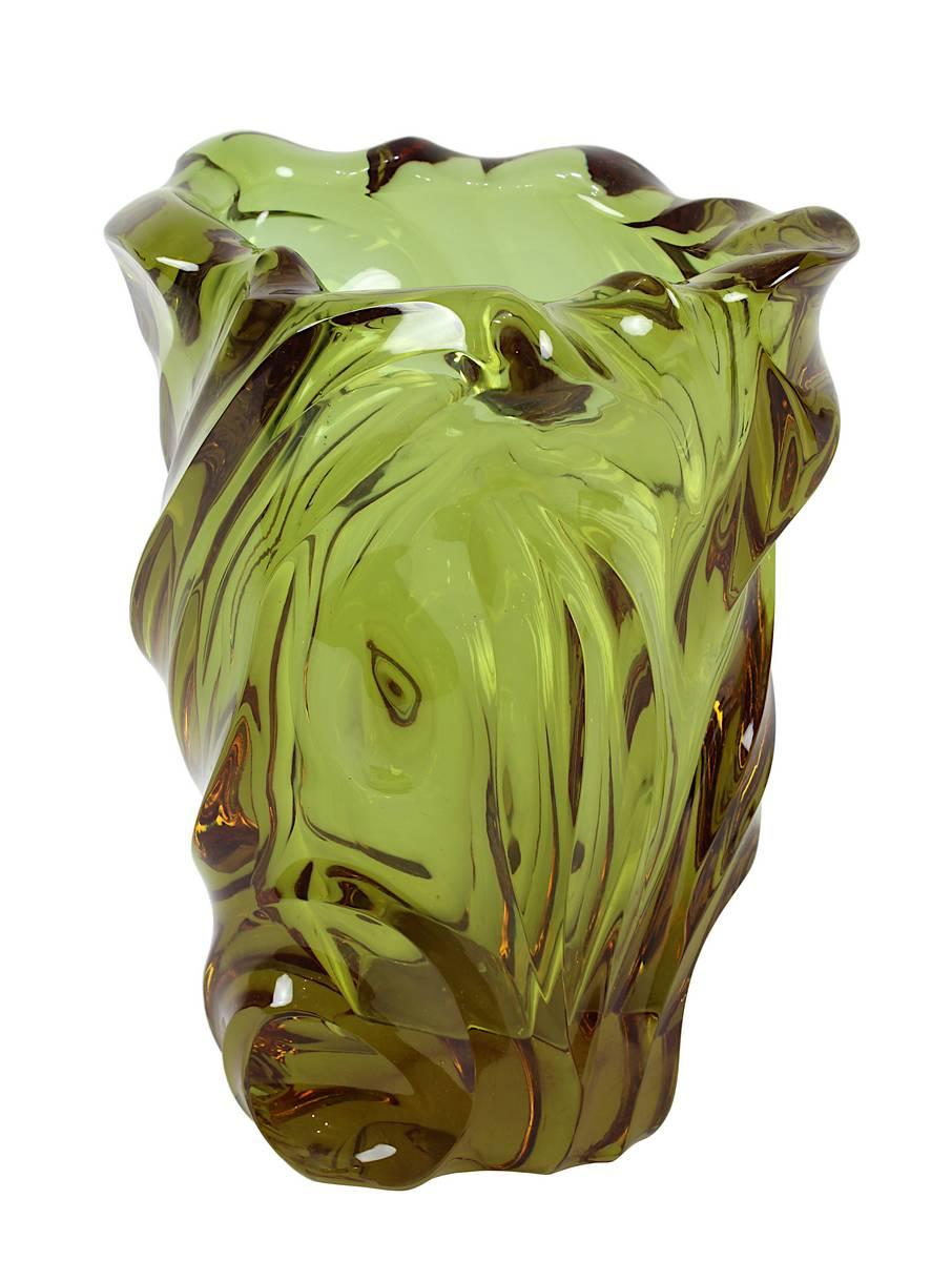 13-0002 - Seltene Moser Alexandrit -Glasvase Image