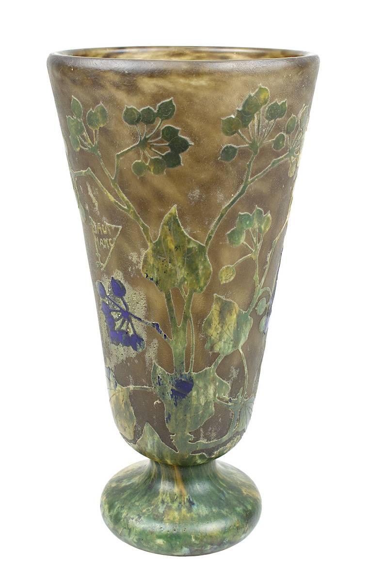 13-0003 - Daum Vase mit Efeu-Dekor Image