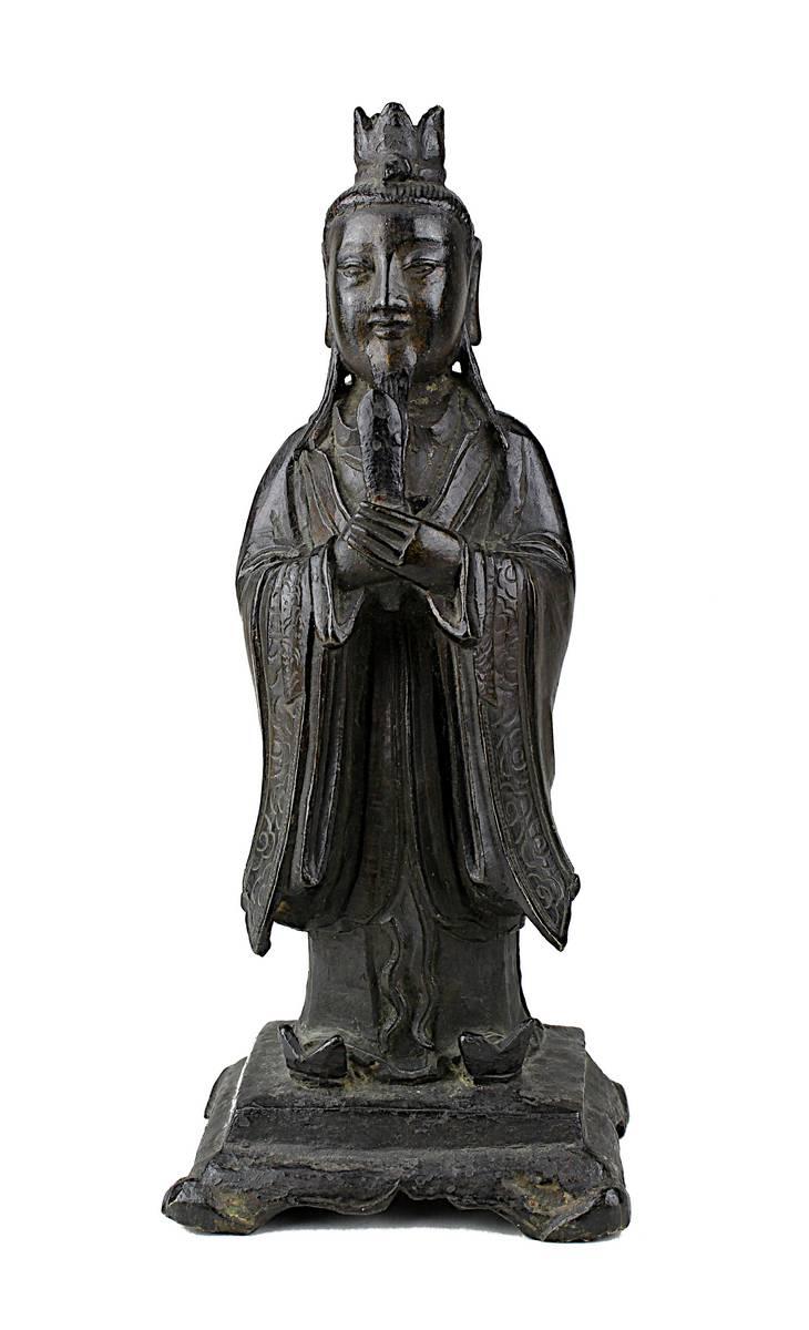 2-0006 - Wenchang Wang, China, Ming-Dynastie, dunkel patinierte Bronze Image