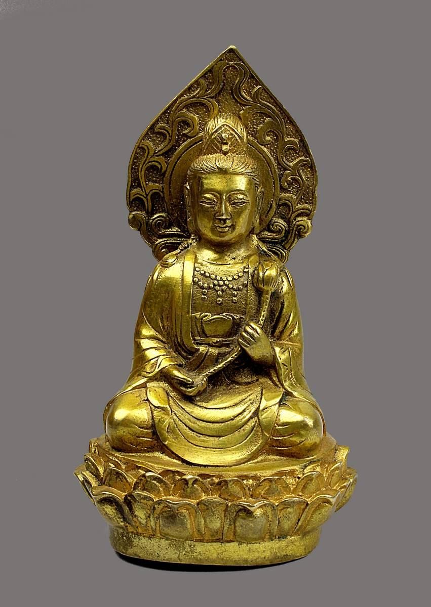 2-0009 - Buddha aus vergoldeter Bronze, China 19. Jh., Image