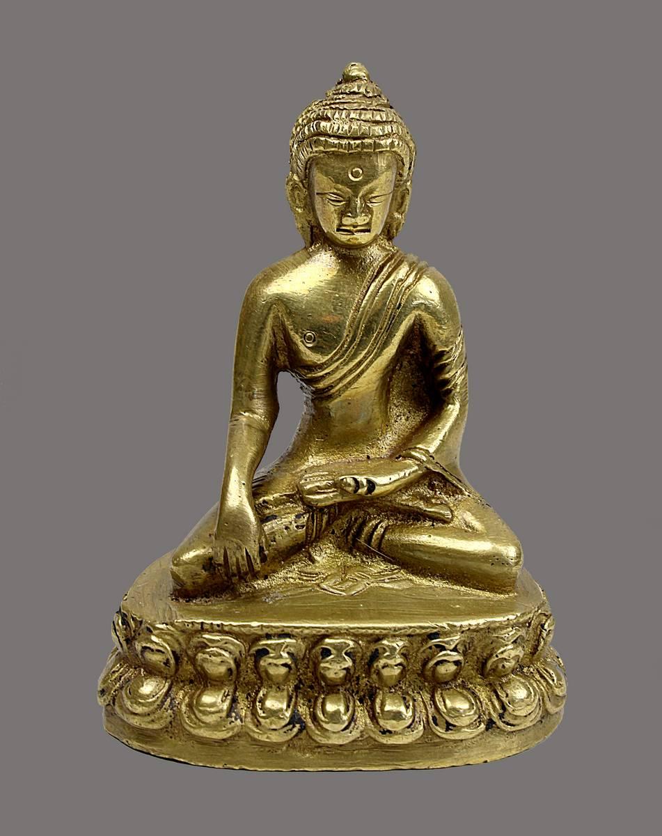 2-0010 - Kleiner Buddha, Himalaya, 19. Jh. Image