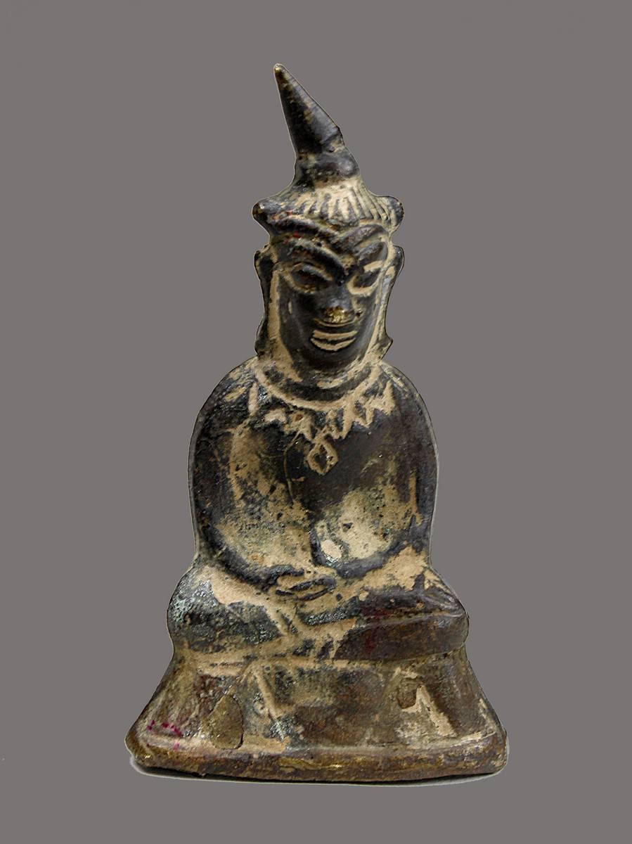 2-0011 - Padmasambhava, Laos, 18./19.Jh., Bronzeamulett Image