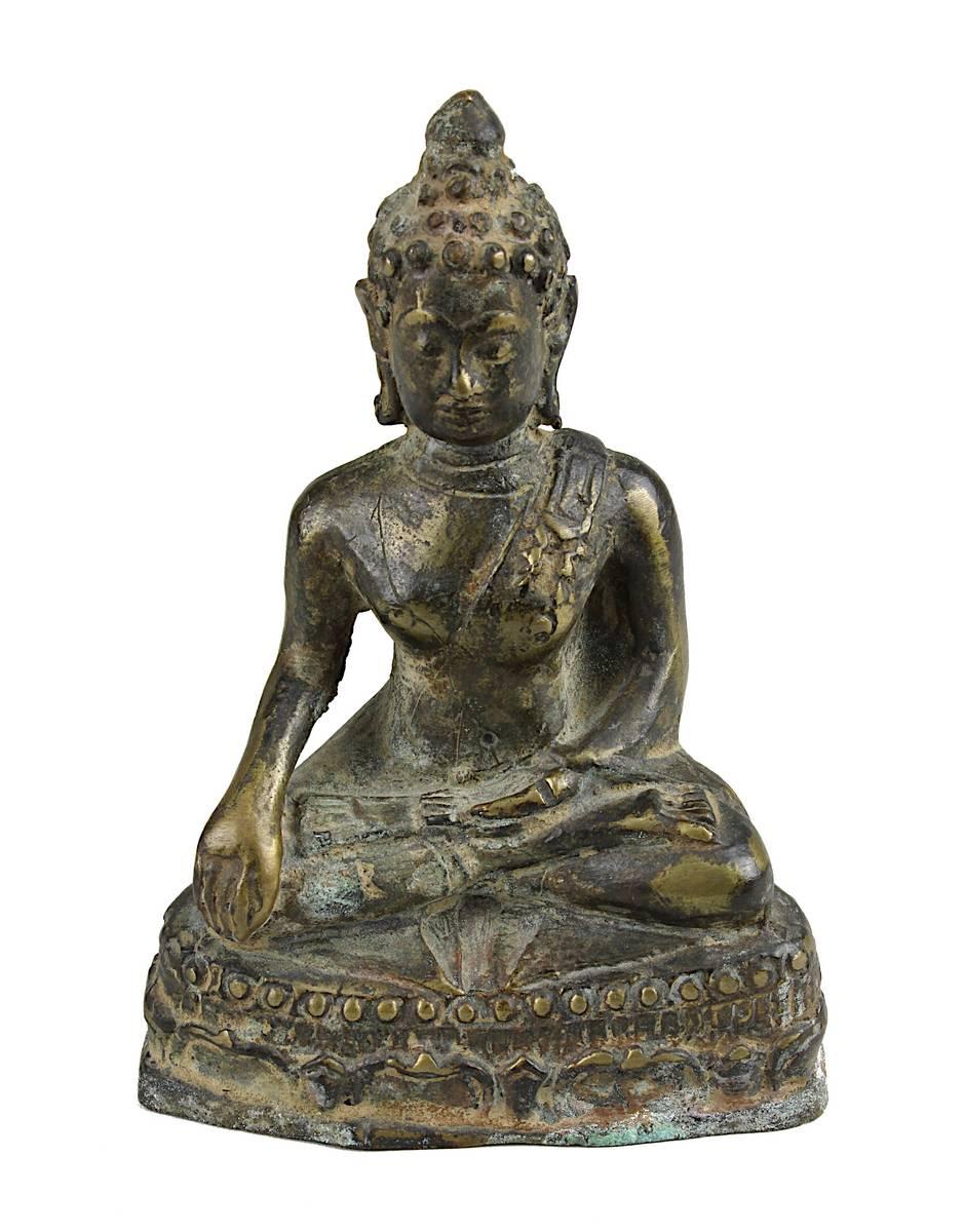 2-0012 - Bronze Buddha, Thailand, Mon-Dvaravati-Stil Image