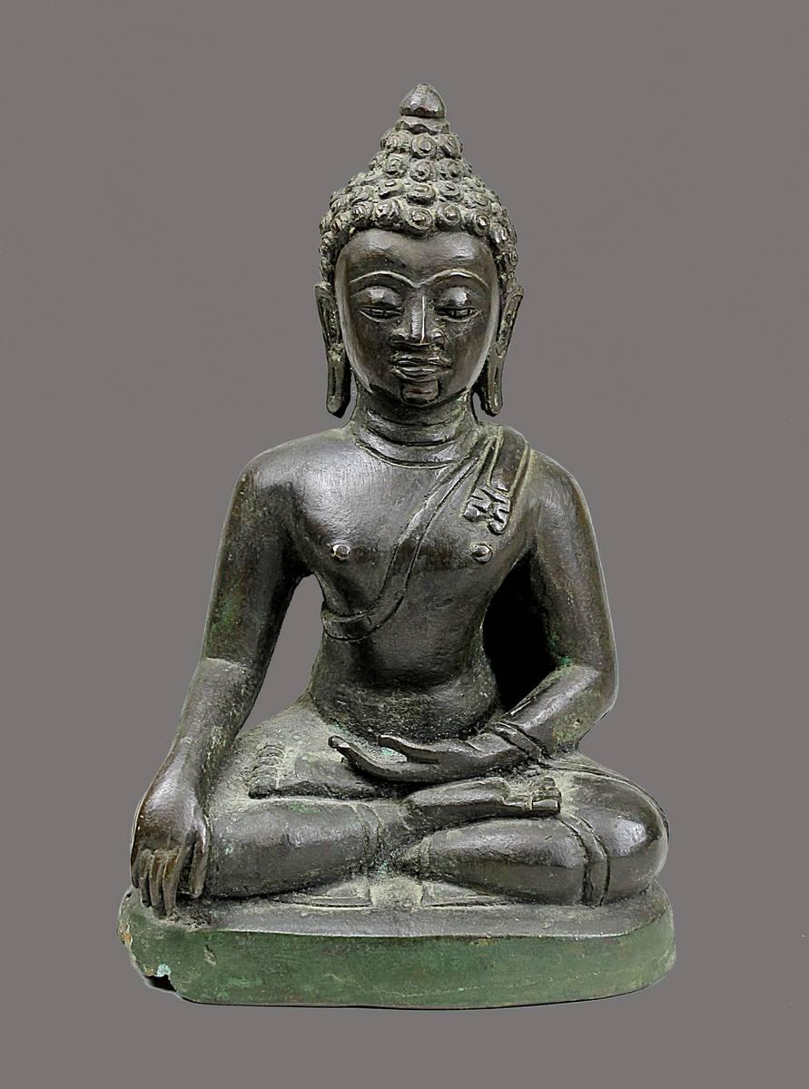 2-0015 - Buddha, Indien, 17./18. Jh., Bronzeguss Image