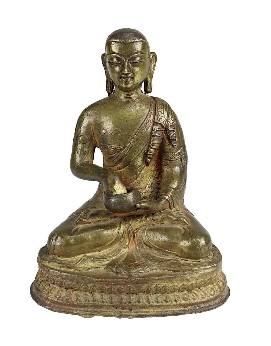 2-0016 - Figur eines buddhistischen Mönchs, Tibet 17/18 Jahrhundert Image