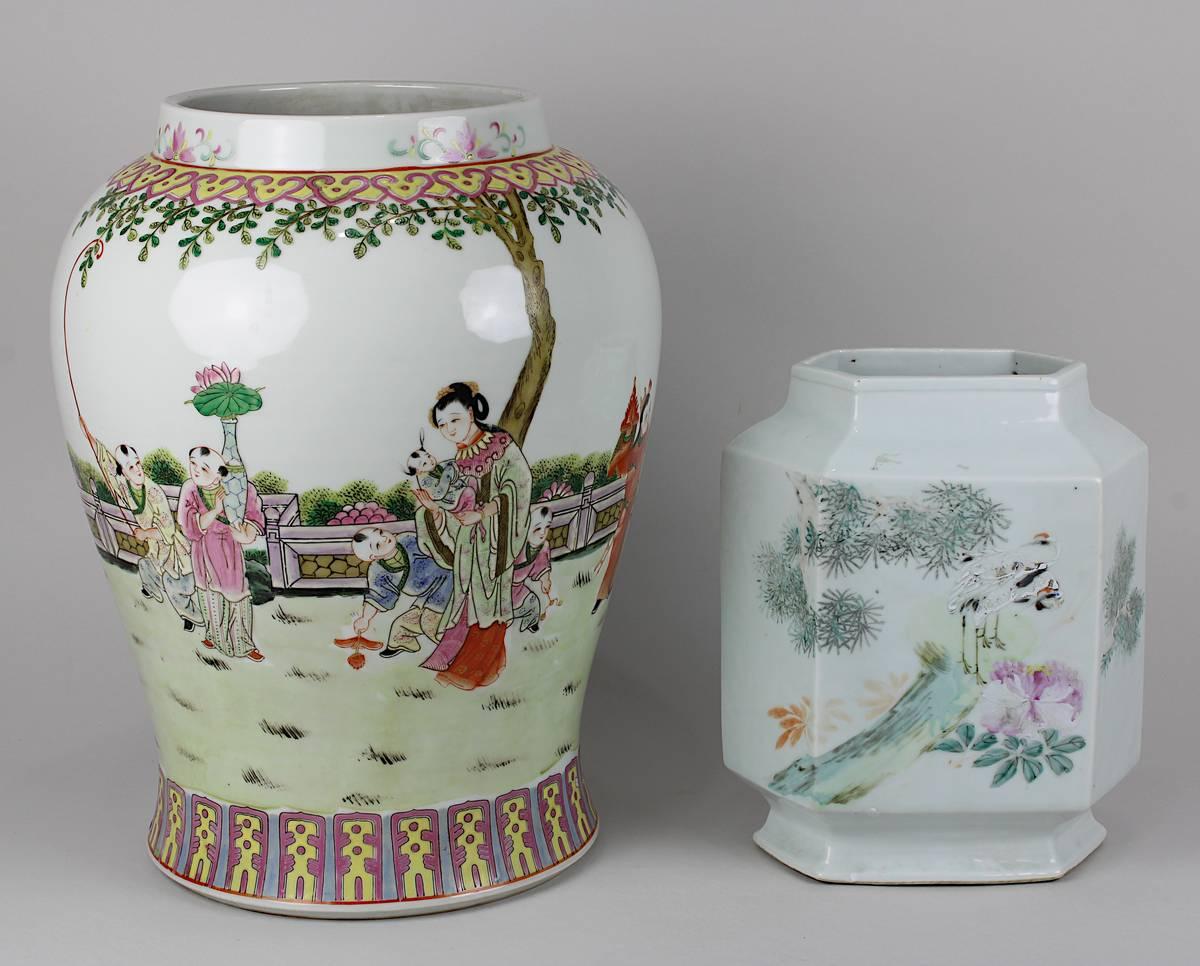 2-0029 - 2 Porzellan-Vasen mit Yongzheng-Marke Image