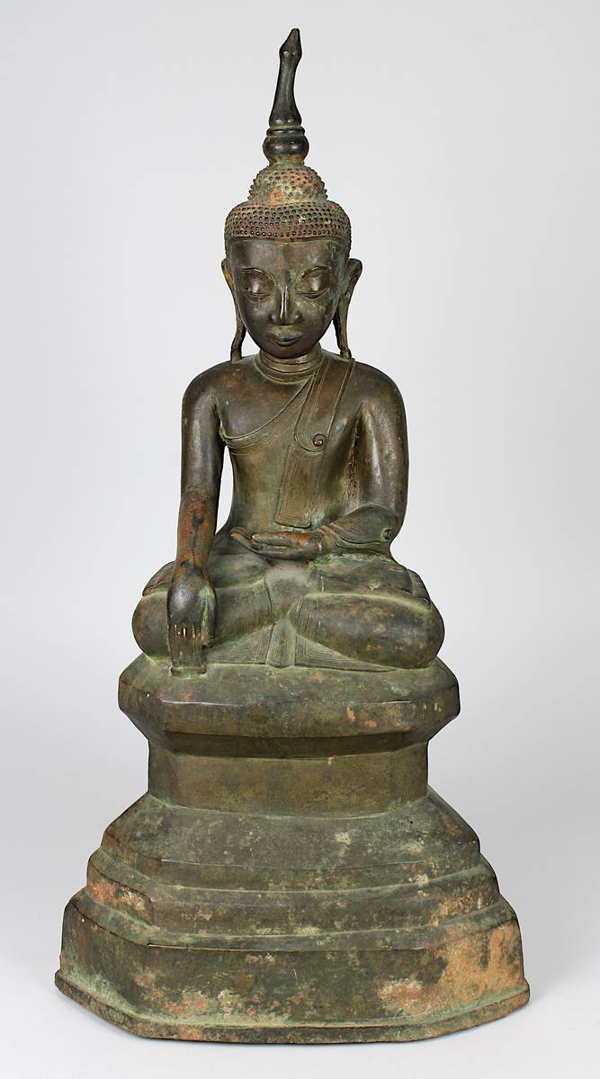2-0031 - Große Figur des sitzenden Buddha, Thailand, Ayutthaya, 17. Jh. Image