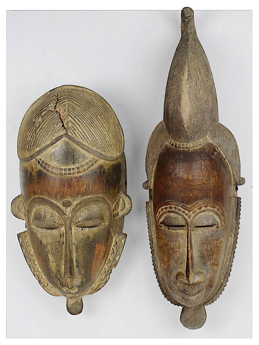 4-0007 - 2 Masken der Baule, Côte d